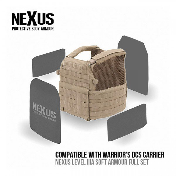 NEXUS DCS NIJ Level IIIA Soft Armour Front Back & Sides Set