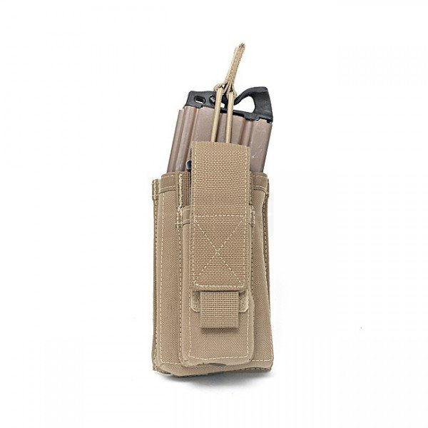 Warrior Single M4 & Pistol Open Magazine Pouch - Coyote