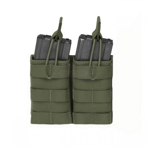 Warrior Double M4 Open Magazine Pouch - Olive