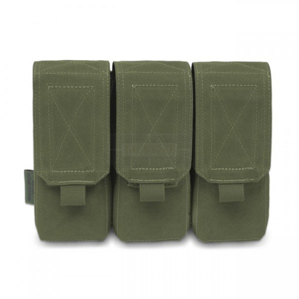 Warrior Triple M4 Magazine Pouch - Olive
