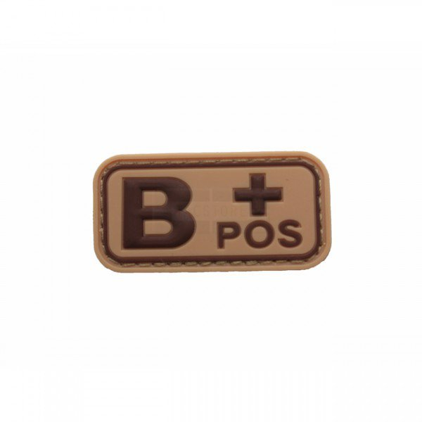 Pitchfork Blood Type B POS Patch - Tan