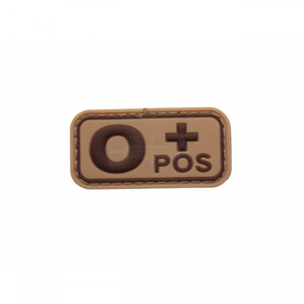 Pitchfork Blood Type O POS Patch - Tan