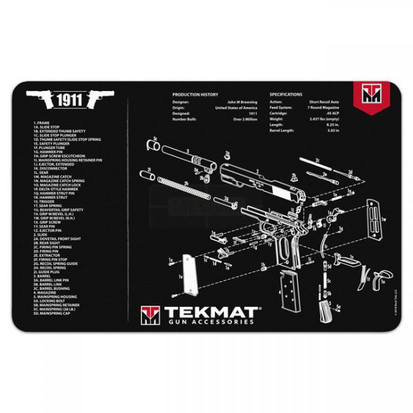 TekMat Cleaning & Repair Mat - Colt 1911