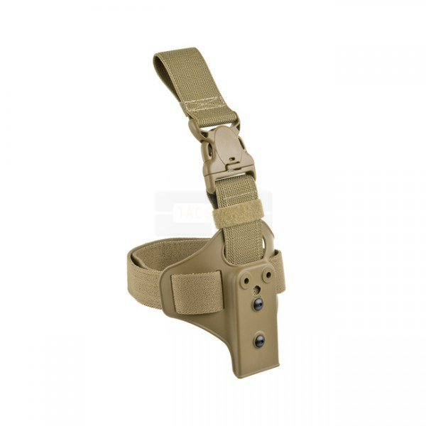 Safariland Lightweight Leg Shroud & Quick Release Leg Strap Complete Assembly - FDE Brown