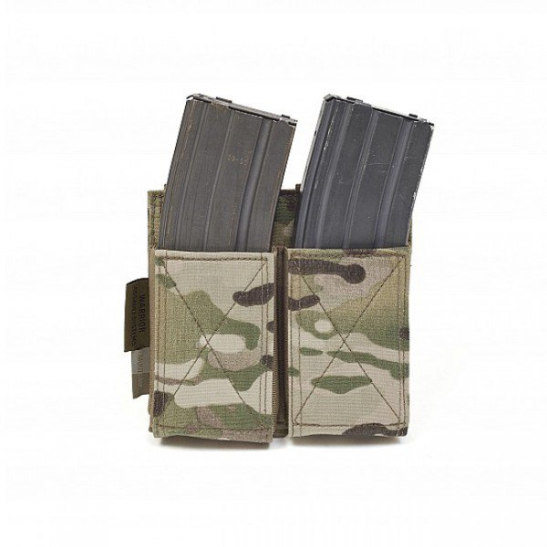 Warrior Double Elastic Magazine Pouch - Multicam
