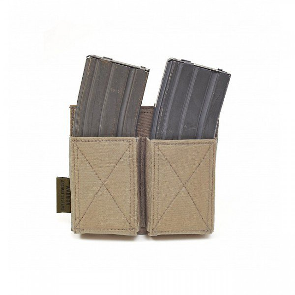 Warrior Double Elastic Magazine Pouch - Coyote