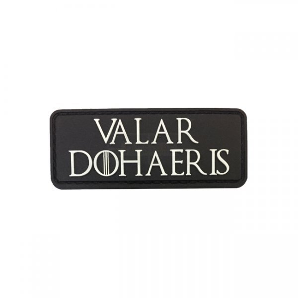 Pitchfork Valar Dohaeris Patch - Black