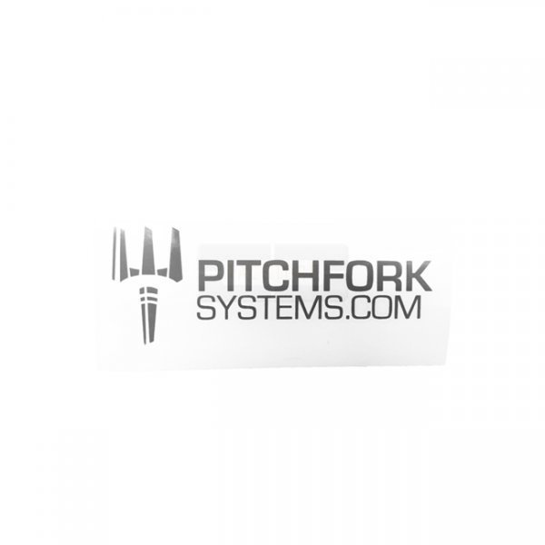 Pitchfork The Brand Sticker Small - Urban Grey