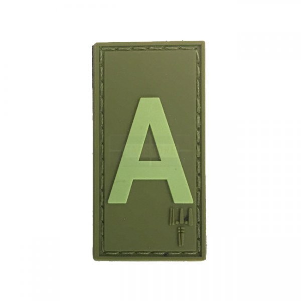 Pitchfork Letter A Patch - Olive