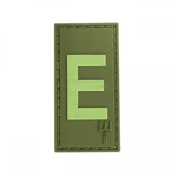 Pitchfork Letter E Patch - Olive