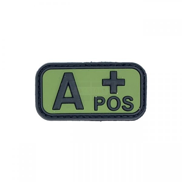 Pitchfork Blood Type A POS Patch - Green