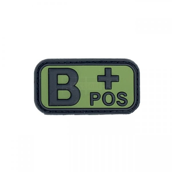 Pitchfork Blood Type B POS Patch - Green