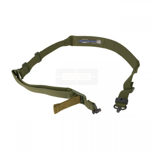 Blue Force Gear Vickers 221 Sling Padded Standard Push Button - Olive