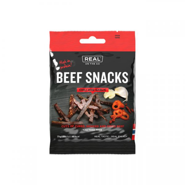 REAL On the go Beef Snacks Chili and Garlic