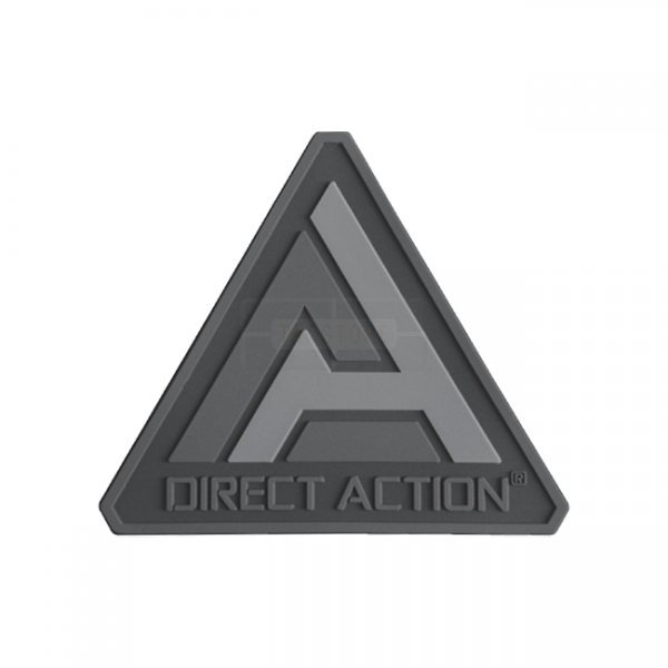 Direct Action PVC Logo Patch - Black