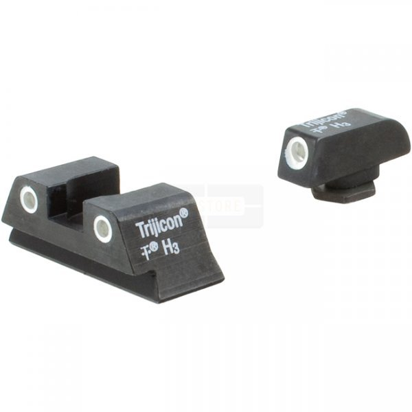 Trijicon Bright & Tough GL13-C-600779 Glock Small Frames Night Sight Set - Rear Orange Lamps