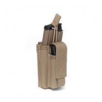 Warrior Single M4 & Pistol Open Magazine Pouch - Coyote 1