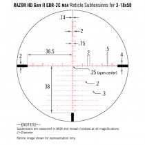 VORTEX Razor HD ll 3-18x50 Riflescope EBR-2C Reticle - MOA 5