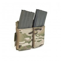 Warrior Double Elastic Magazine Pouch - Multicam 1