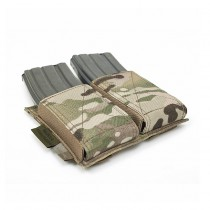 Warrior Double Elastic Magazine Pouch - Multicam 2