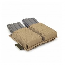 Warrior Double Elastic Magazine Pouch - Coyote 2