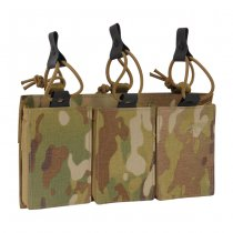 Tasmanian Tiger 3 Single Magazine Pouch Bungee Velcro M4 - Multicam