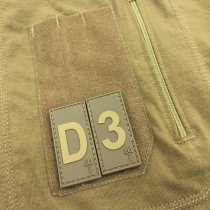 Pitchfork Letter D Patch - Tan