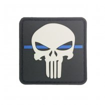 Pitchfork Thin Blue Line Punisher Patch - Black