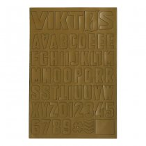VIKTOS Moralphabet Letter Patches - Coyote