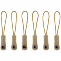 Clawgear CG Zipper Puller Large 6-Pack - Coyote