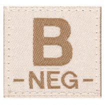 Clawgear B Neg Bloodgroup Patch - Desert
