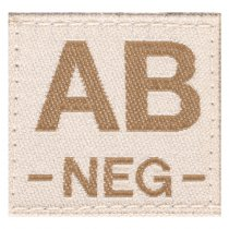 Clawgear AB Neg Bloodgroup Patch - Desert