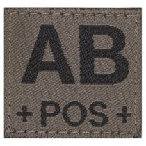 Clawgear AB Pos Bloodgroup Patch - RAL7013