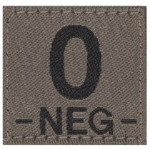 Clawgear 0 Neg Bloodgroup Patch - RAL7013