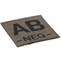 Clawgear AB Neg Bloodgroup Patch - RAL7013
