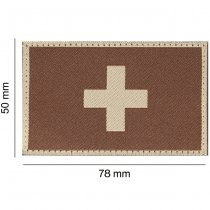 Clawgear Switzerland Flag Patch - Desert