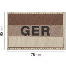 Clawgear Germany Flag Patch - Desert