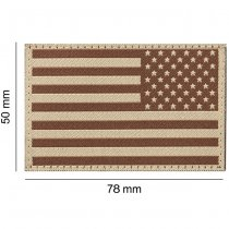 Clawgear USA Reversed Flag Patch - Desert