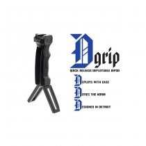 Leapers Combat D-Grip & Quick Release Deployable Bipod