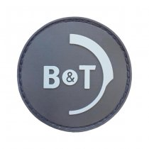 B&T Logo Rubber Patch - Black / Grey