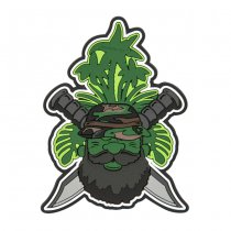 Helikon Beardman Patrol PVC Patch - Olive Green