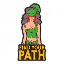 Helikon Find Your Path PVC Patch - Olive Green