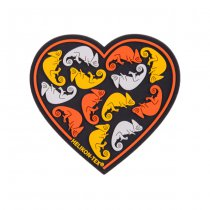 Helikon Heart PVC Patch - Black