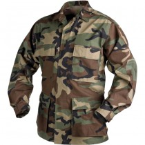 Helikon Battle Dress Uniform Shirt - Woodland Camo