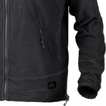 Helikon Alpha Tactical Grid Fleece Jacket - Black - XS