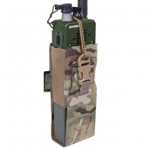 Warrior Laser Cut MBITR/Harris Radio Pouch - Multicam